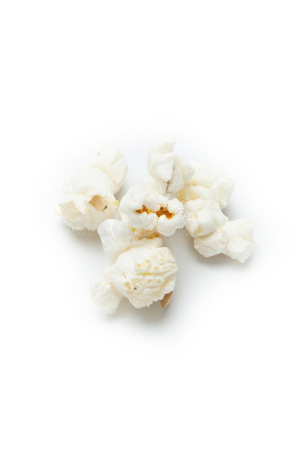 Salted popcorn isolated on white background.  vector illustration