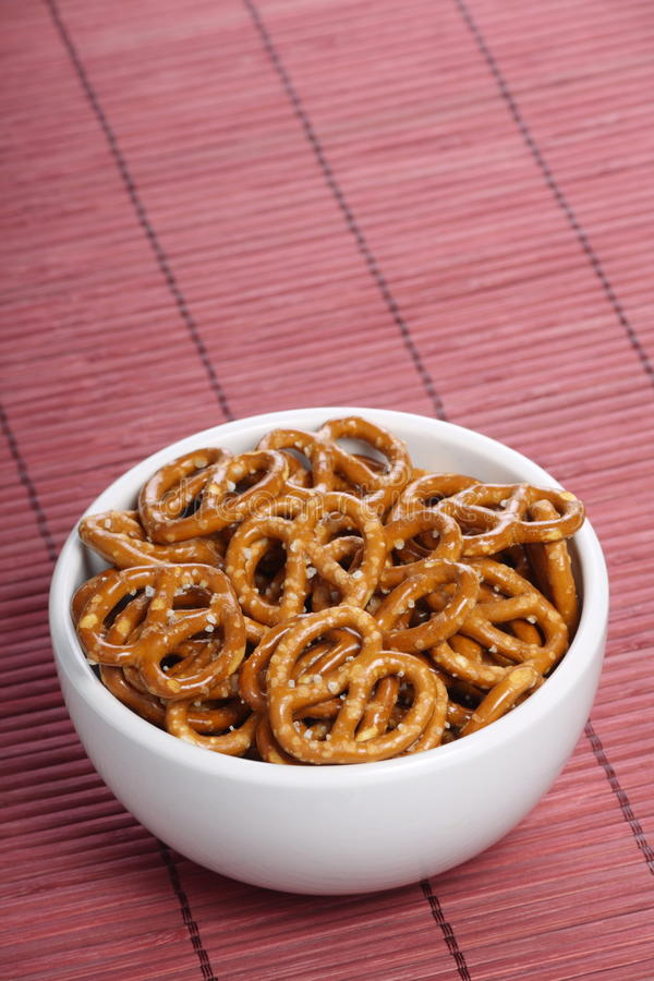 Salted Pretzel Snacks royalty free stock photo