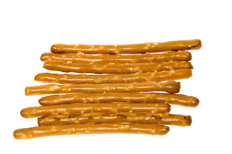 Salted Pretzel Sticks royalty free stock photography