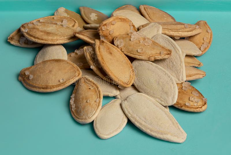 Salted Pumpkin Seeds royalty free stock photos