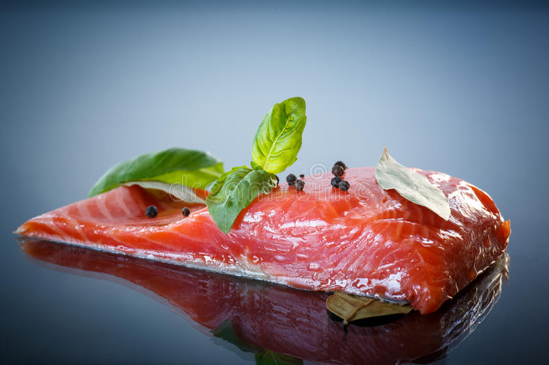 Salted Salmon Fillets Royalty Free Stock Photos