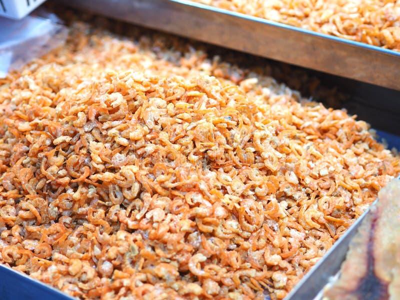 Salted secó el camarón, ingrediente alimentario tailandés imágenes de archivo libres de regalías