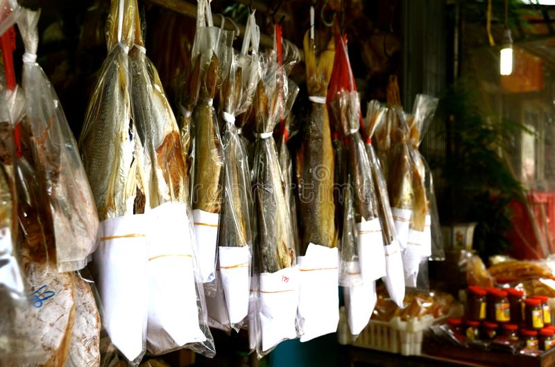 Salted secou peixes imagem de stock