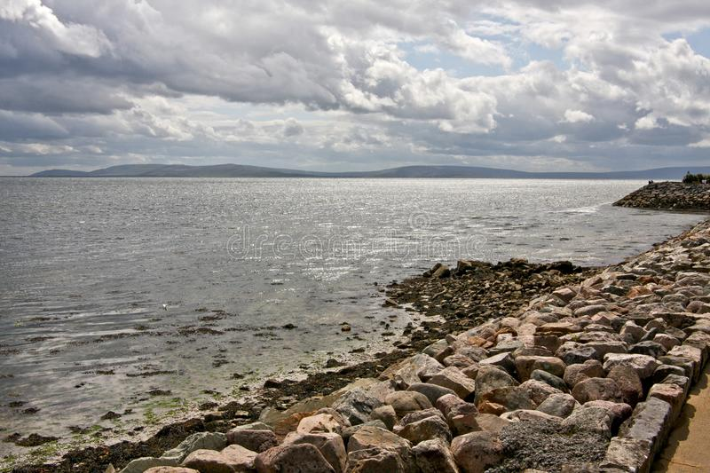 Salthill, Galway, Ireland. View of Galway bay, from Grattan road, Galway, west of Ireland royalty free stock photo