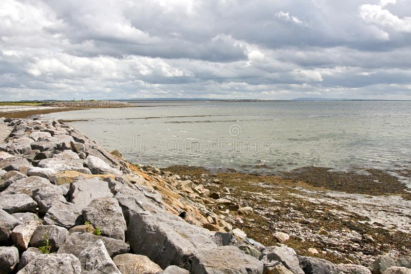 Salthill, Galway, Ireland. View of Galway bay, from Grattan road, Galway, west of Ireland stock images