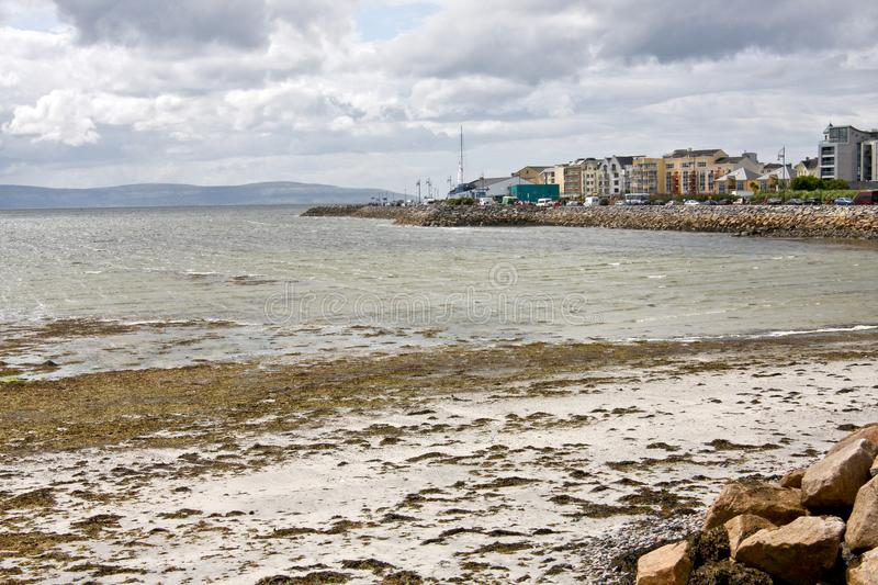 Salthill, Galway, Ireland. View of Galway bay, from Grattan road, Galway, west of Ireland royalty free stock images