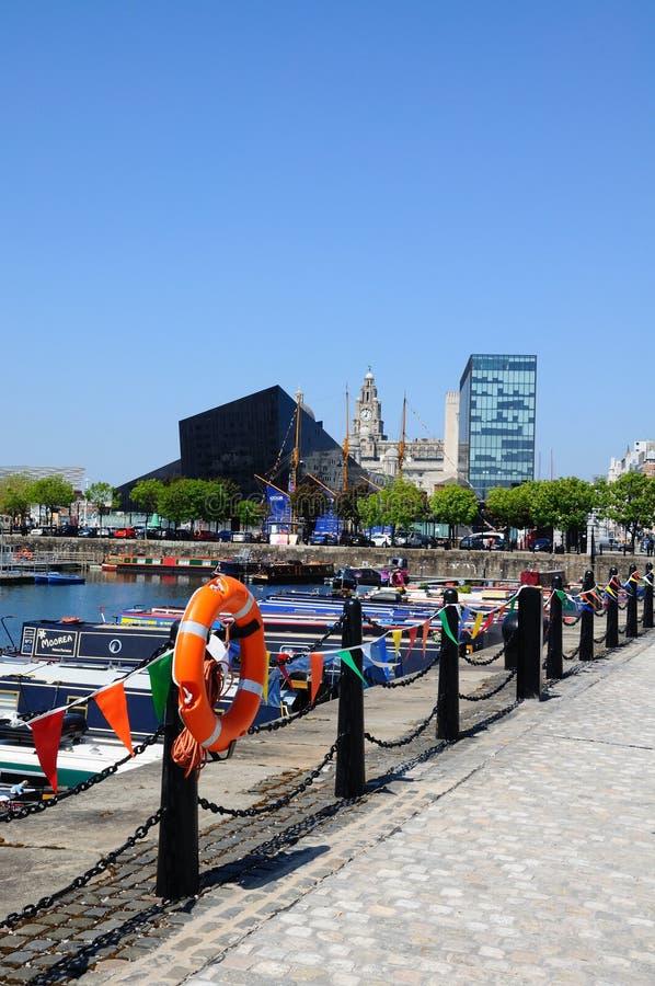Salthouse船坞,利物浦 免版税库存照片