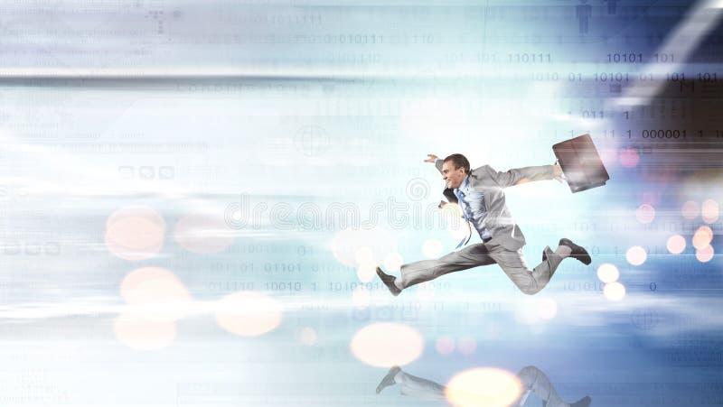 Salti alle tecnologie future immagine stock