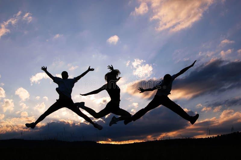 Salti per la gioia fotografia stock libera da diritti