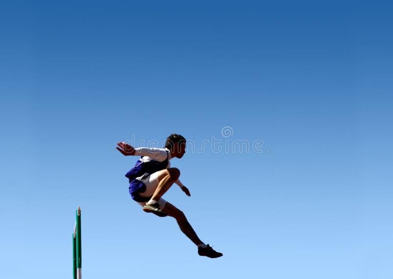 Salti a successo! immagine stock