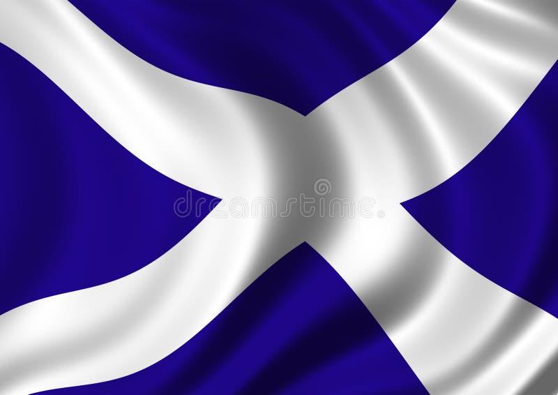 Download Saltire flag stock illustration. Illustration of blue - 7124504