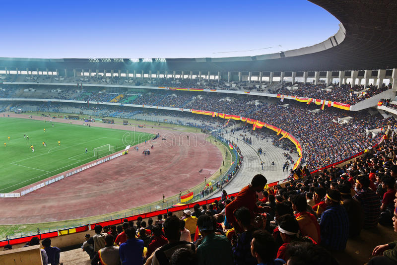 Saltlake体育场在加尔各答 免版税库存图片