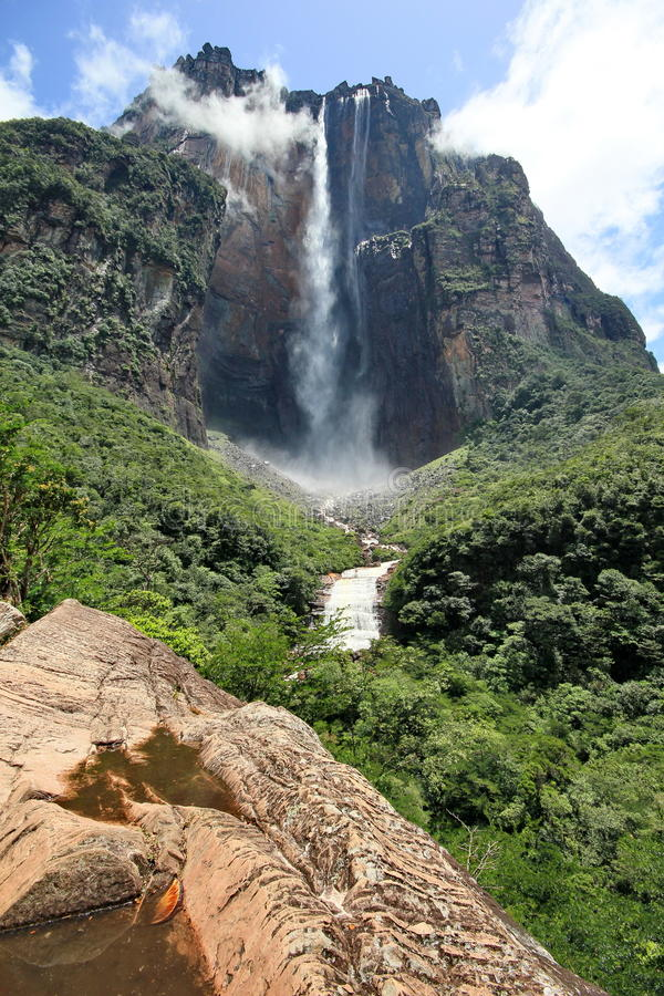 Salto ängel, Venezuela royaltyfria foton