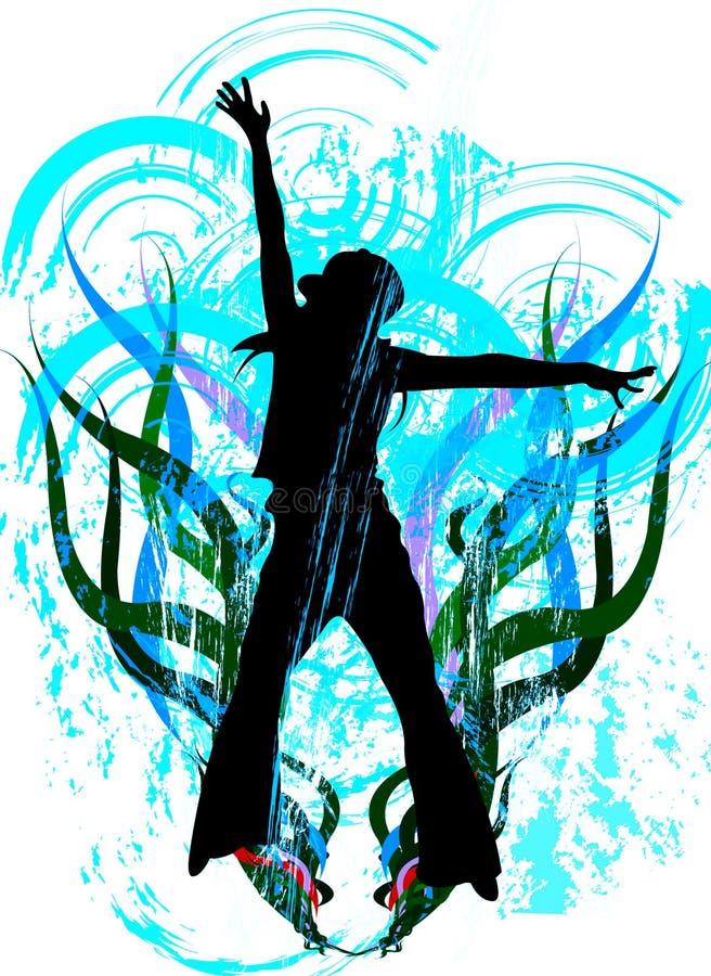 Salto ilustração royalty free