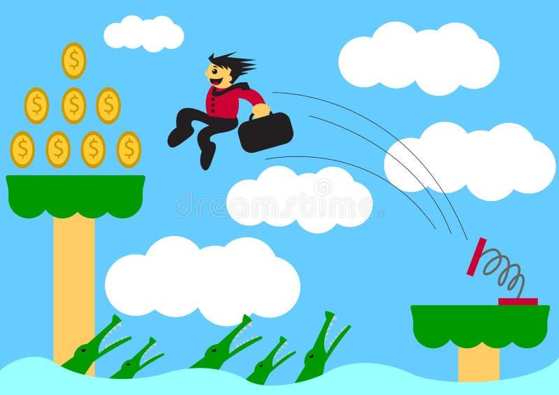 salto ilustração stock