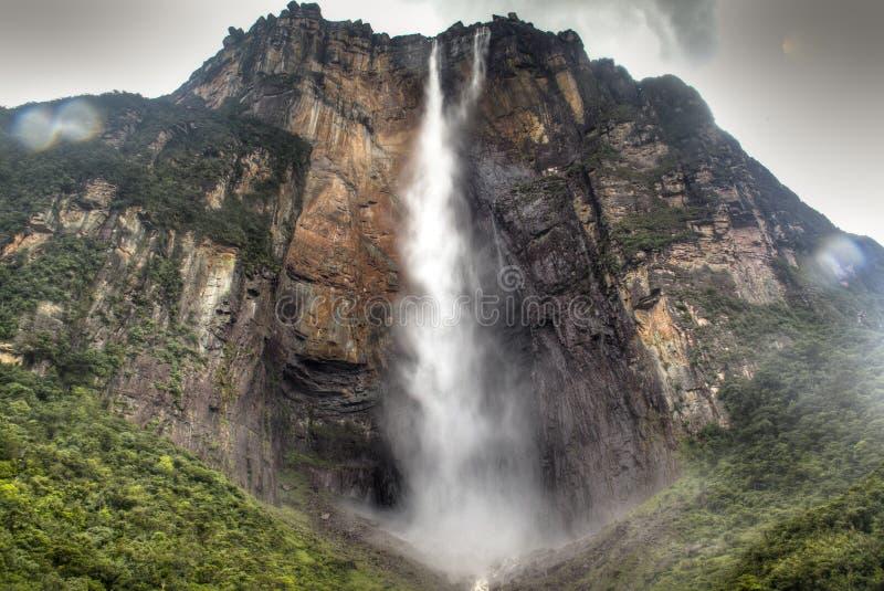 Salto anioł w parku narodowym Canaima obrazy stock