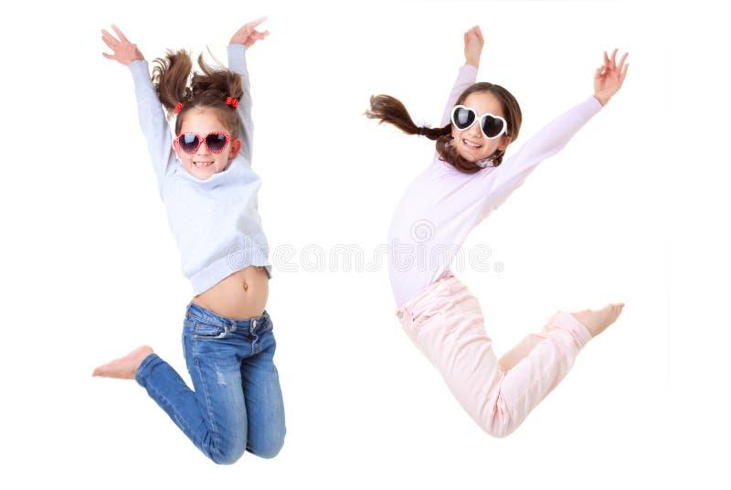 Salto ativo das crianças fotografia de stock royalty free