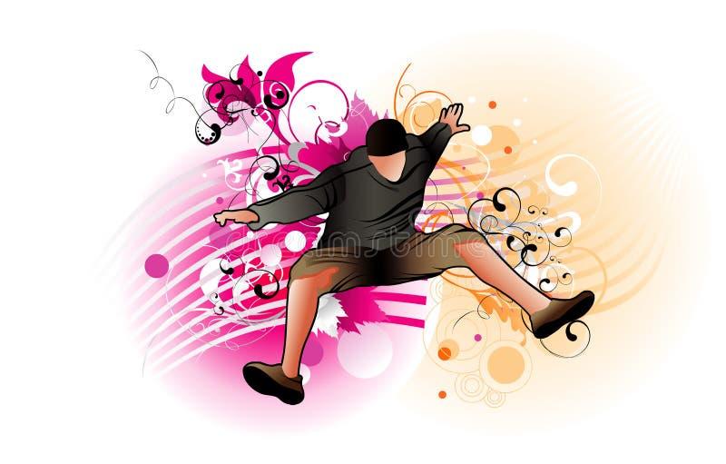Salto ativo do homem ilustração stock
