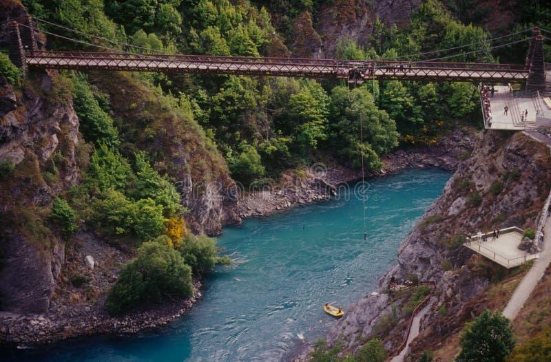Salto bungy del puente de Kawarau fotografía de archivo