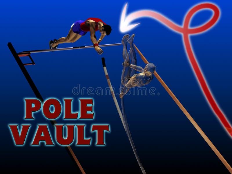 Salto con pértiga del atletismo libre illustration