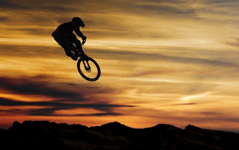 Salto da bicicleta ilustração stock