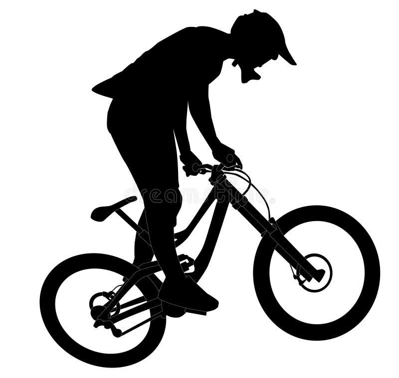 Salto da bicicleta ilustração do vetor