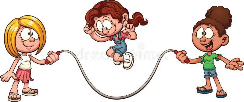 Salto da corda ilustração do vetor
