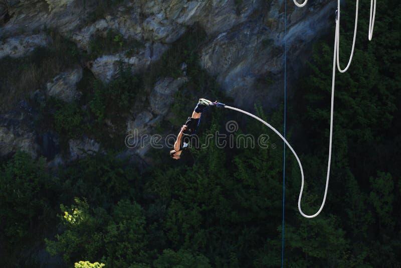 Salto de Bungy foto de archivo libre de regalías