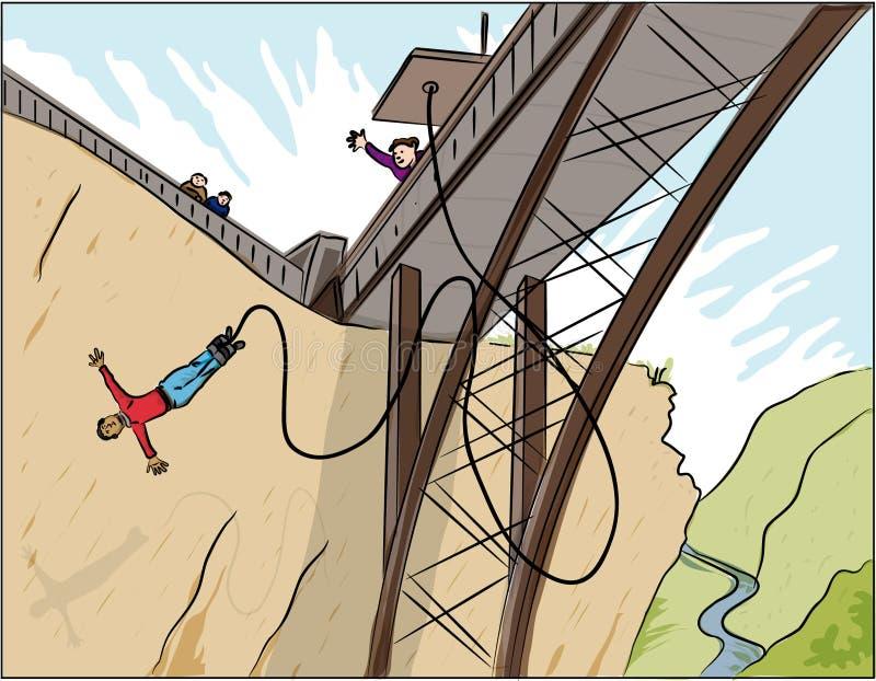 Salto de Bunjy ilustração royalty free