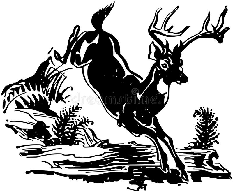 Salto de ciervos libre illustration