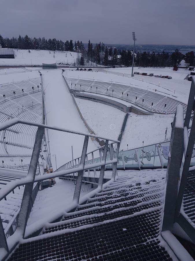 Salto de esquí de Holmenkollen imágenes de archivo libres de regalías