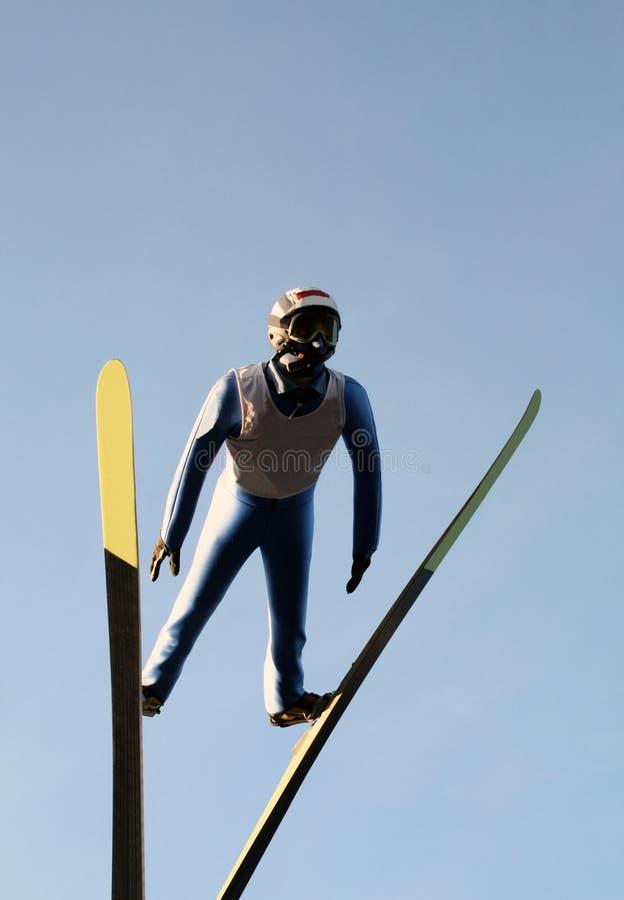 Salto de esqui imagem de stock