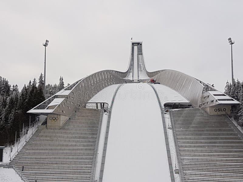 Salto de esqui de Holmenkollen imagens de stock