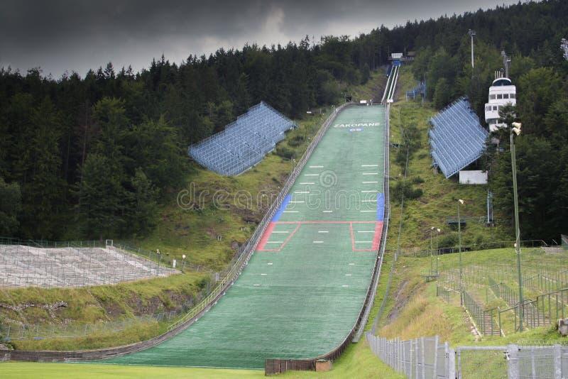 Salto de esqui Wielka Krokiew foto de stock