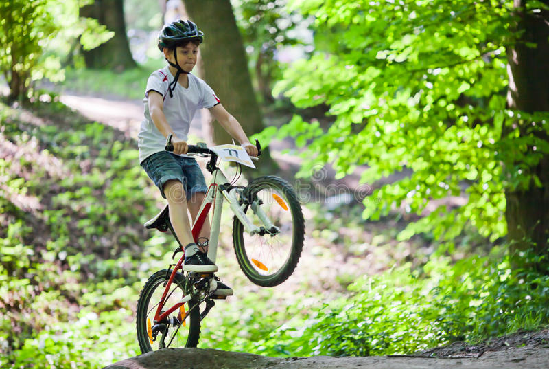 Download Salto De La Bici De Montaña Imagen de archivo - Imagen de bicicleta, acción: 41910949