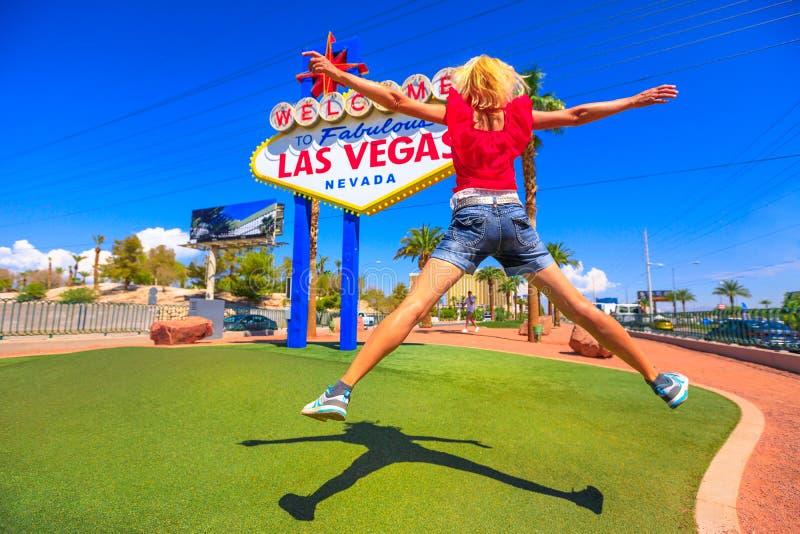Salto de la muestra de Las Vegas fotos de archivo
