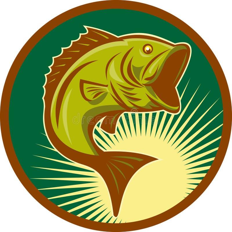 Salto de los pescados del bajo bocazas libre illustration