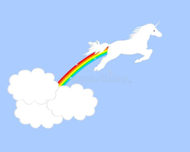 Salto de unicornio ilustración del vector