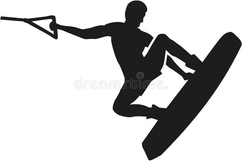 Salto de Wakeboarding ilustração royalty free