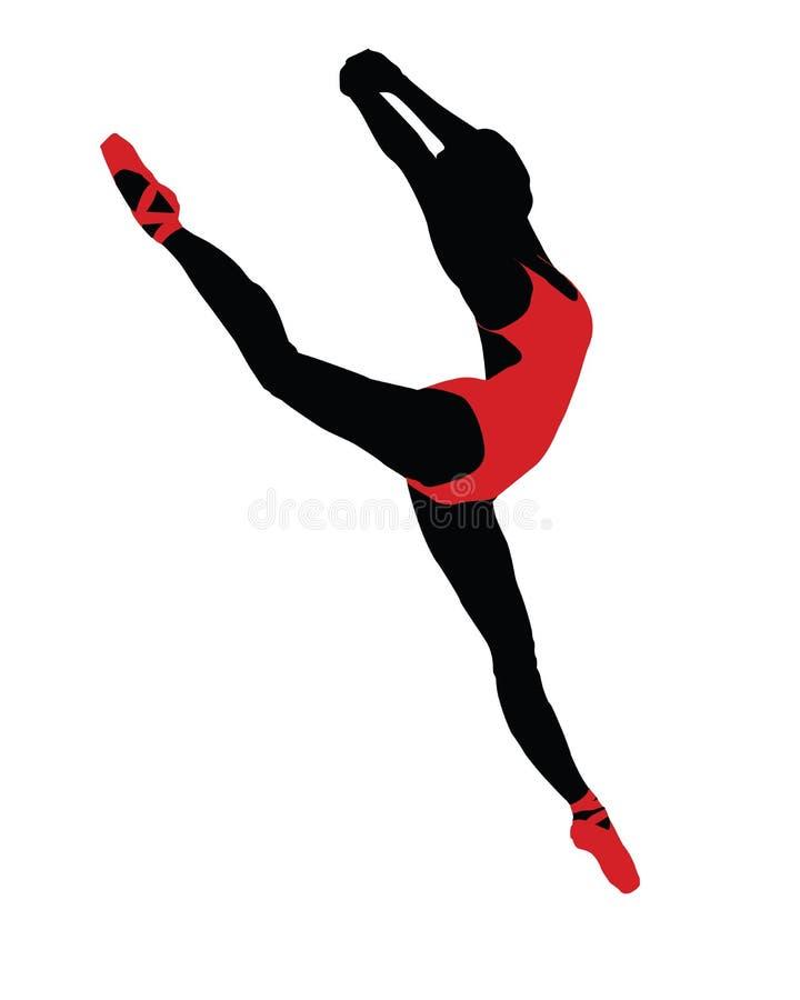 Salto del ballet ilustración del vector