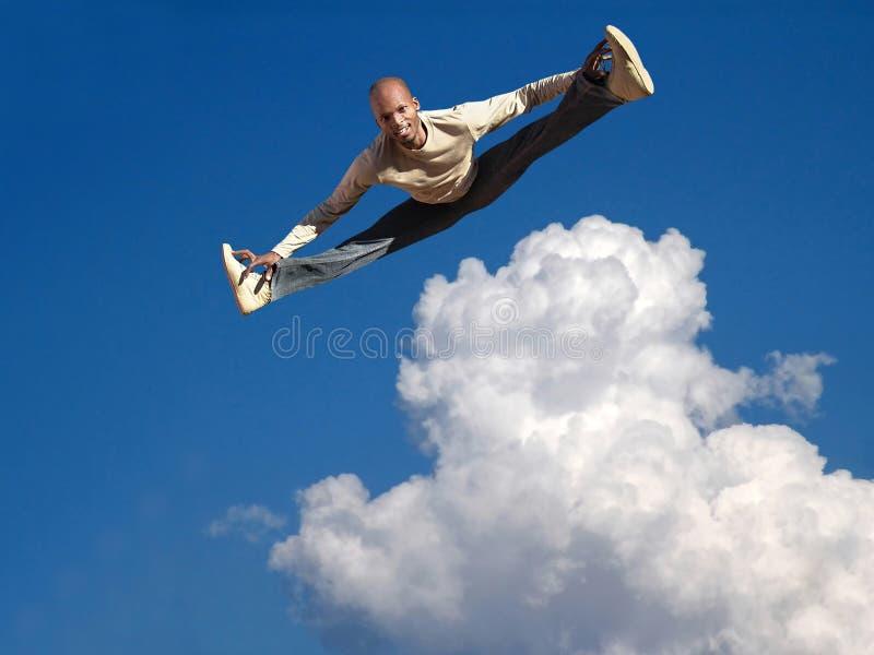Salto del cielo fotografia stock
