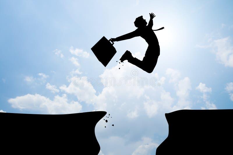 Salto del hombre de Bussiness foto de archivo libre de regalías