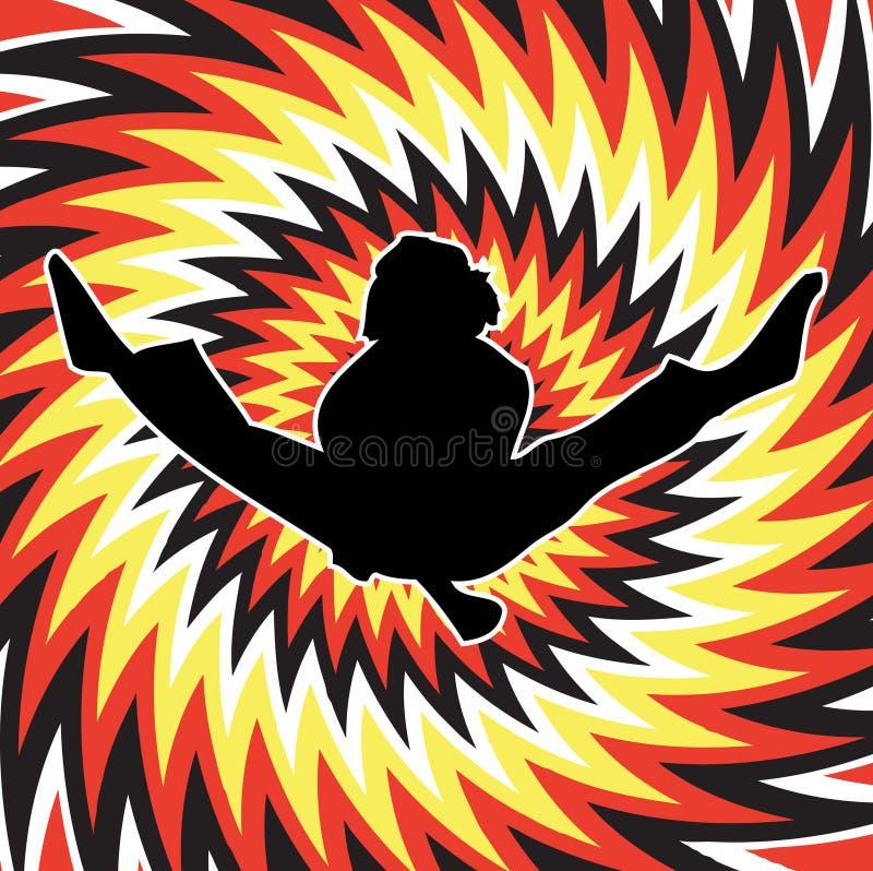 Salto del karate libre illustration