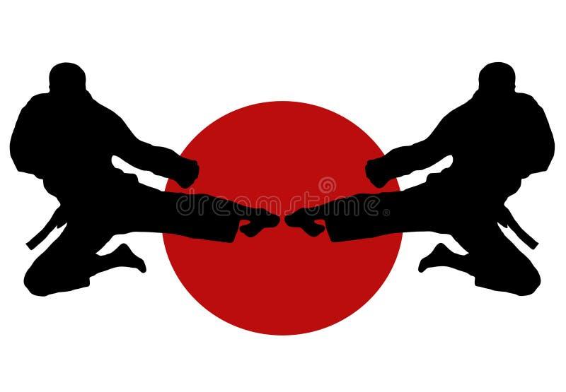 Salto del karate imagen de archivo
