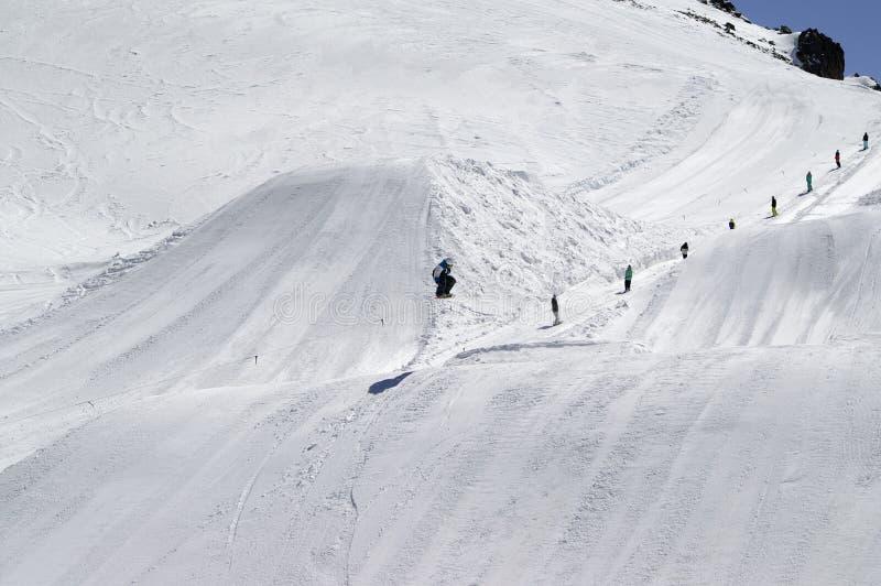 Salto del Snowboard fotografía de archivo libre de regalías