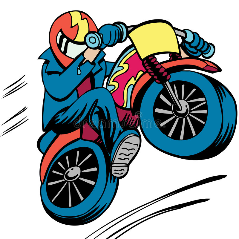 Salto della bici della sporcizia illustrazione vettoriale