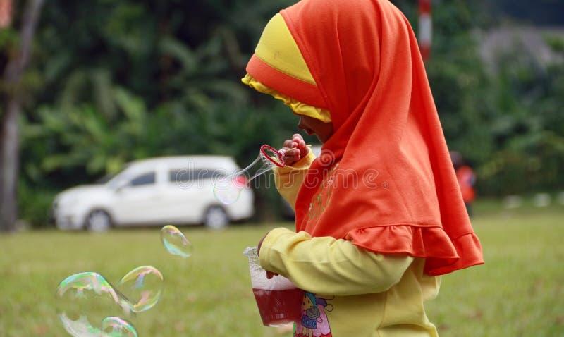 Salto della bolla di sapone immagine stock libera da diritti