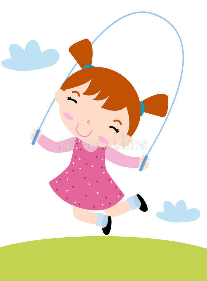 Salto della ragazza illustrazione vettoriale