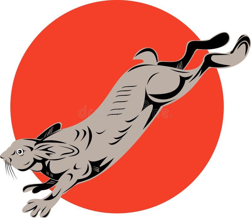 Salto delle lepri di Snowshoe illustrazione di stock