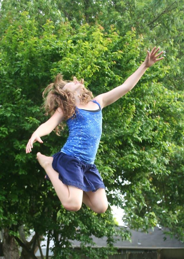 salto di gioia fotografia stock libera da diritti